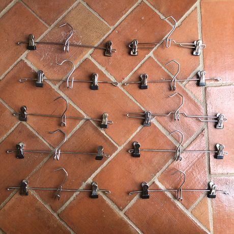 Lote 10 cabides de molas metal
