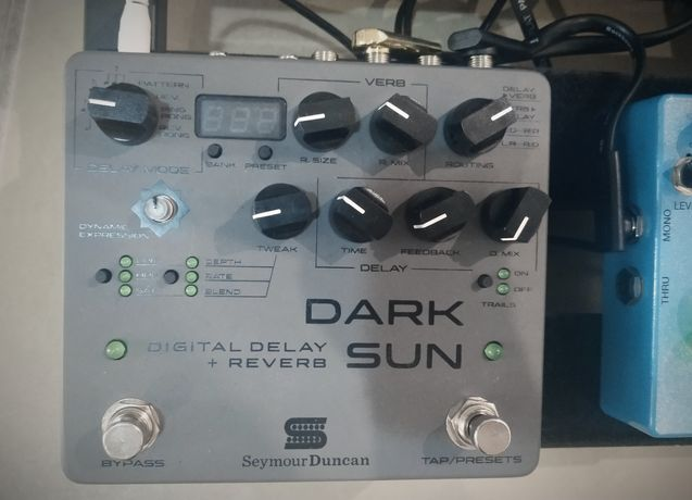 Pedal Seymour Duncan Dark Sun Reverb + Delay Presets midi