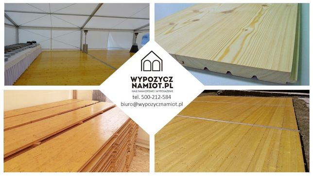 PRODUKCJA podłóg mobilnych, drewnianych do namiotów i hal namiotowych