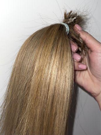 Волосы для наращивания русые натуральные