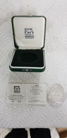 Moeda comemorativa prata FIA campeões F1 25€ - Michael Schumacher
