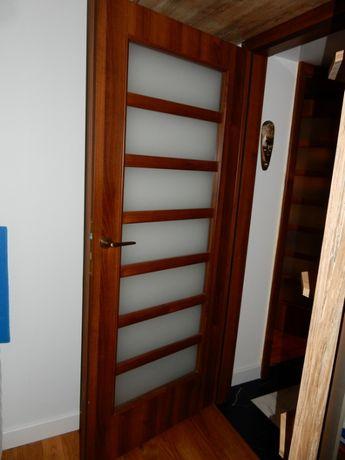 drzwi 80cm PORTA DECOR orzech LEWE model: STYL, klamka - 1 szt.