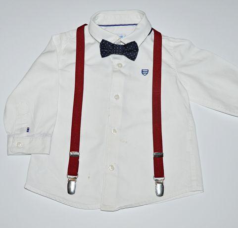 Biała koszula Mayoral 74cm 9m