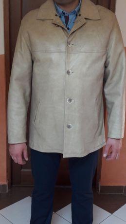 Płaszcz skórzany męski Marbet rozmiar XL