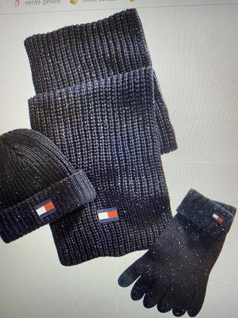 Шапка шарф перчатки Томми