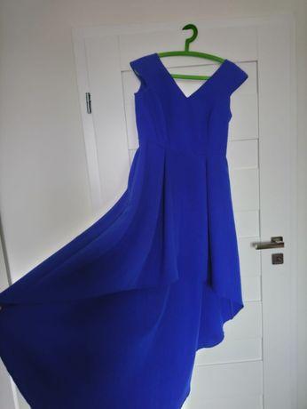 Sukienka wieczorowa z długim tyłem