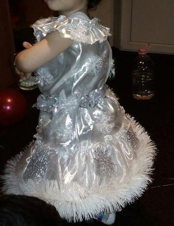 Снежинка, нарядное платье на утренник!