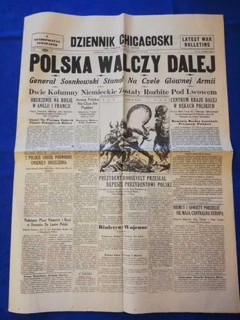 Gazeta - Dziennik Chicagowski z 19.09.1939 roku - OKAZJA!!!