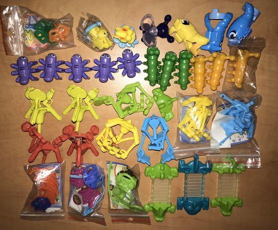 Kinder niespodzianka figurki kręciołki pisaki krokodyl motyl pieczątka