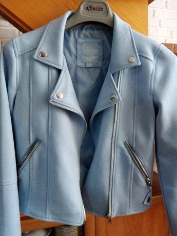 kurtka ramoneska błękitna wiosenna c&a 146
