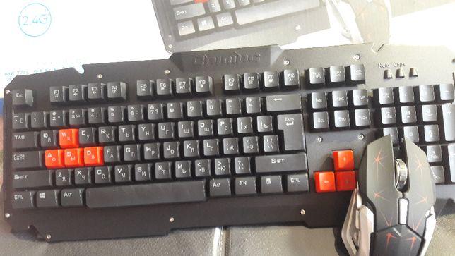 Беспроводная геймерская клавиатура с мышью HK 6700