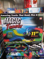 Гоночная трасса Magic Tracks 220 деталей, Детская, светящиеся