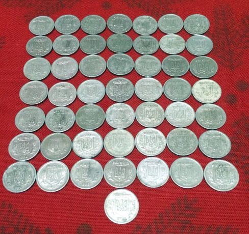 2 копейки 1993-1994 гг. 50 шт. Украина (алюминий)