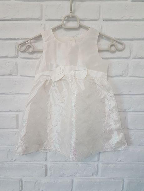 Biała sukienka 12-18m 86 cm