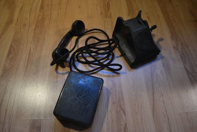 Stary telefon bakelitowy, ebonitowy, ebonit, bakielit