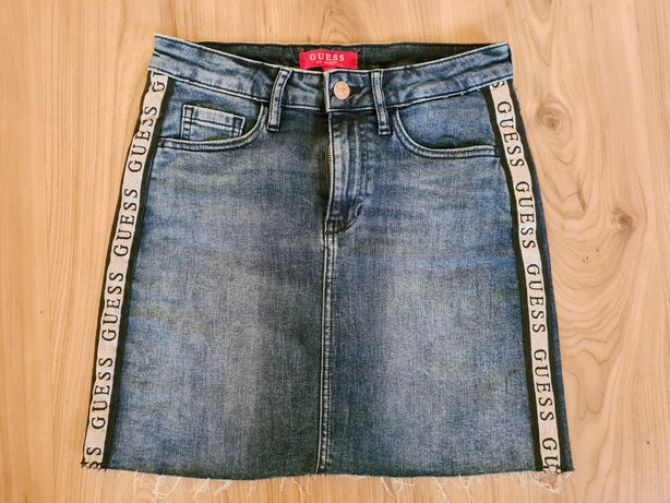GUESS spódnica jeans mini XS/S rozm.25 Nowa !