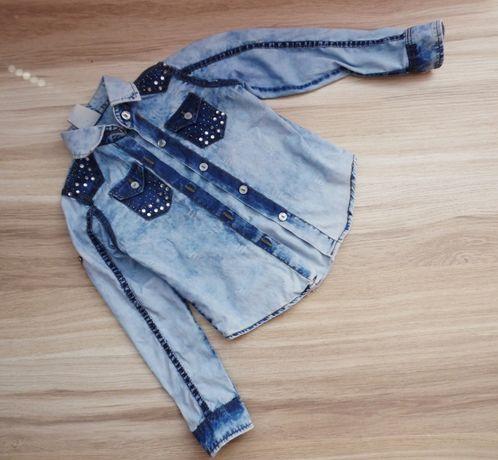 Джинсовая рубашка на девочку, джинсова рубашка