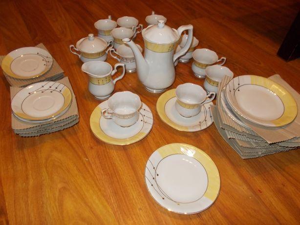 12 częściowy zestaw porcelany - do kawy, herbaty i ciast - NOWY !!!