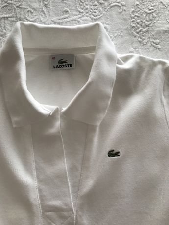 Polo branco manga curta Lacoste original
