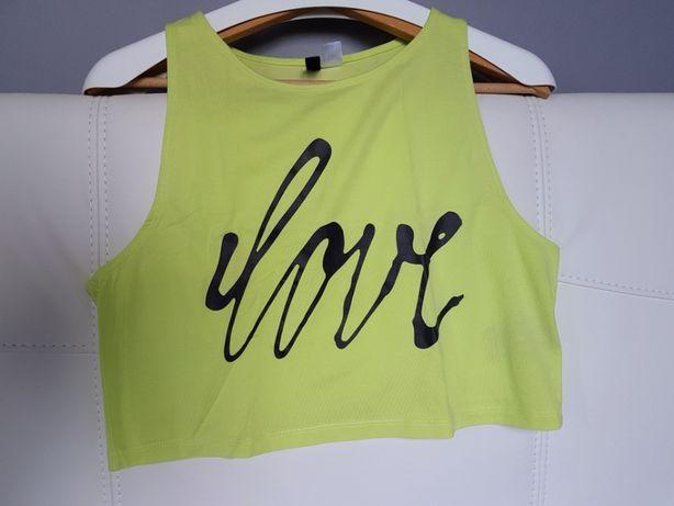 NOWY seledynowy / zielony top H&M, XS / S / M / L