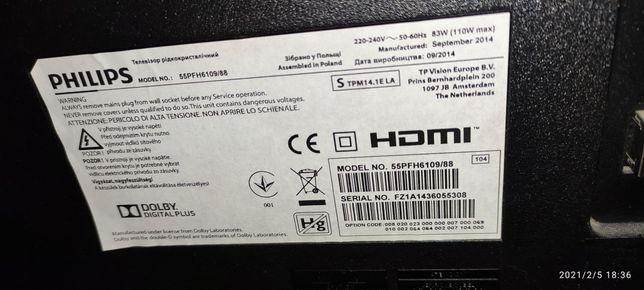 Telewizor Philips 55PFH6109/88 3D/LED/SmartTV/FullHD/200Hz/USB/3xHDMI