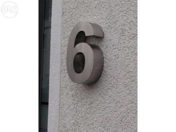 Números residenciais de Inox - Nr. 6 em 3D para Portas ou Entradas