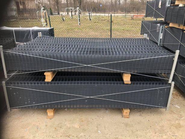 Panel ogrodzeniowy 133 cm fi 4 KOMPLET Panele MONTAŻ!