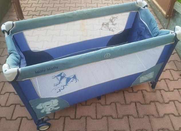 Łóżko dziecięce łóżeczko turystyczne IDEAŁ składane pokrowiec kółka