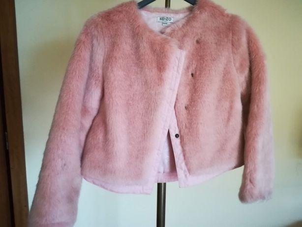casaco de pelo rosa/salmão KENZO 10 anos