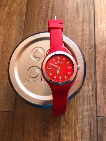 Zegarek am pm czerwony, w puszce - jak nowy