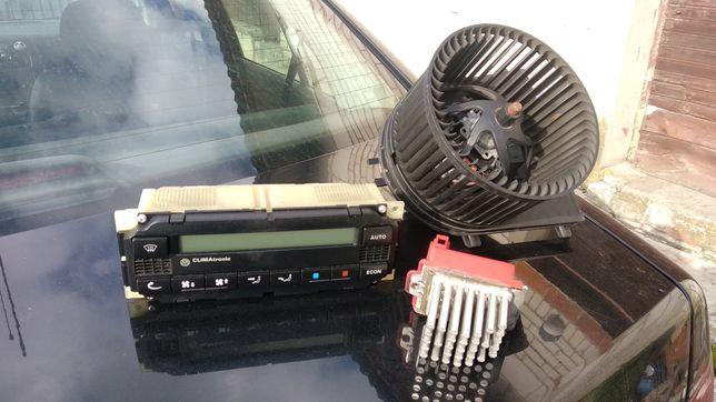 Panel climatronic opornik nawiew dmuchawa VW BORA