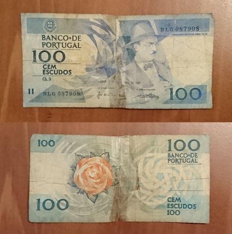 Nota 100 escudos – Fernando Pessoa