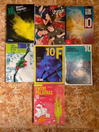 Manuais Escolares e Cadernos de Atividades 10ºano (como novos)