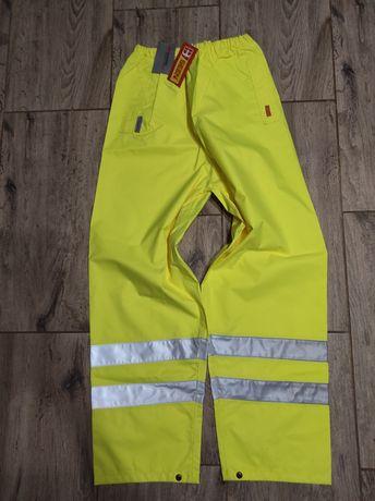 SEEN odblaskowe spodnie robocze 3M Scotchlite NOWE L męskie