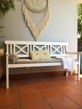 canape, cadeirao, sofa, branco,  rustico