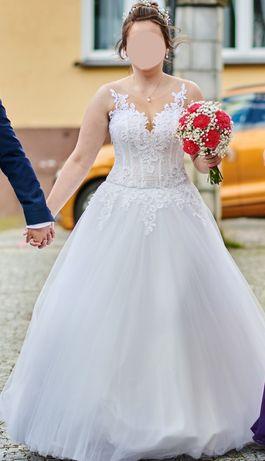 Suknia ślubna księżniczka rozm.38