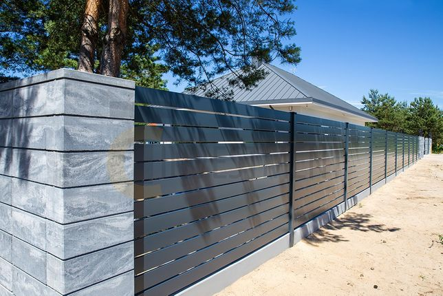 Przęsło ogrodzeniowe Panel ogrodzeniowy Montaż ogrodzenia bramy paneli