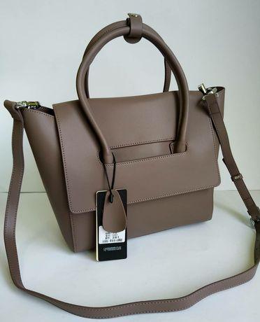 Кожаная сумка с длинным ремнем ,шкiряна сумка