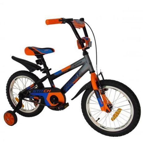 Детский велосипед Азимут STITCH А 12 14 16 18 20 дюймов