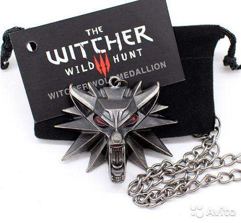 """3D! Медальон Ведьмака """"The Witcher 3"""" в мешочке кулон Геральта подарок"""