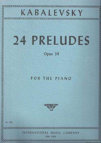 Dimitri Kabalevsky - 24 Preludes: Opus 38, for the Piano (NOVO)