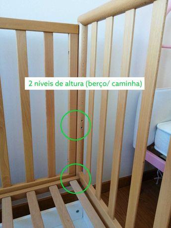 Berço/cama Baby Superstar em madeira+colchão de 62 X 125 cm