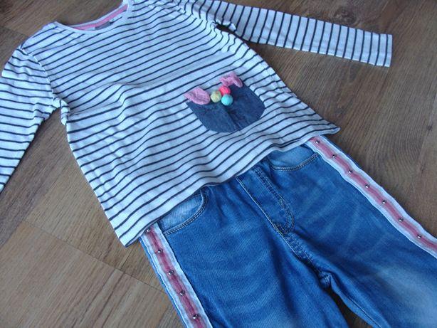 Komplet dla dziewczynki bluzka i spodnie + gratis bluzka