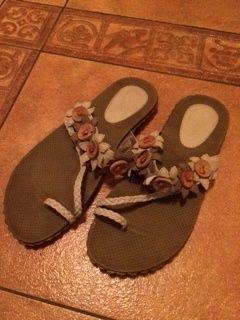 Sandały japonki z eko skóry