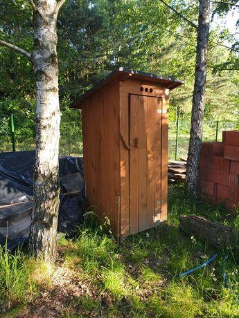 Drewniane WC , toaleta