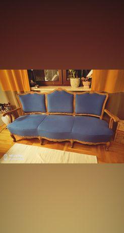 Sofa w stylu Ludwikowski tapicerka chaber