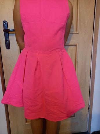 Sukienka neonowy róż SINSAY rozm.XL