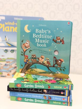 Usborne Baby's bedtime music book,книга с музыкальными и