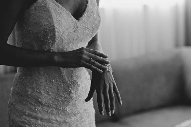 Suknia ślubna xxs /xs 32/34 romantyczna koronka