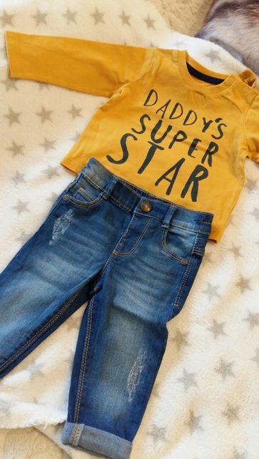 Komplecik spodnie bluzeczka 68